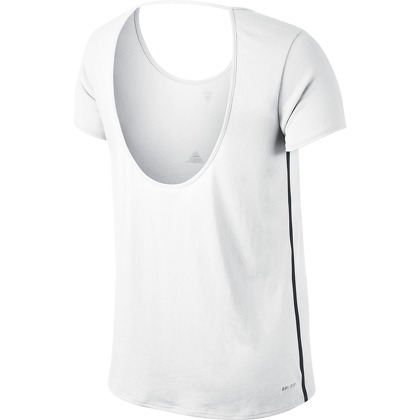 Женская одежда Nike OPEN BACK GRAPHIC SS TOP 589020-101