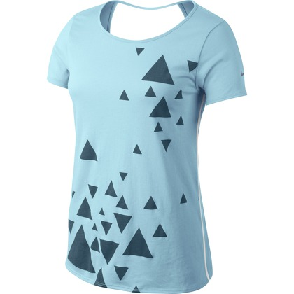 Женская одежда Nike OPEN BACK GRAPHIC SS TOP 589020-417