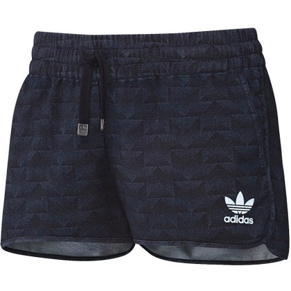 Женская одежда Adidas Track Denim Shorts Rinse Denim AJ7182
