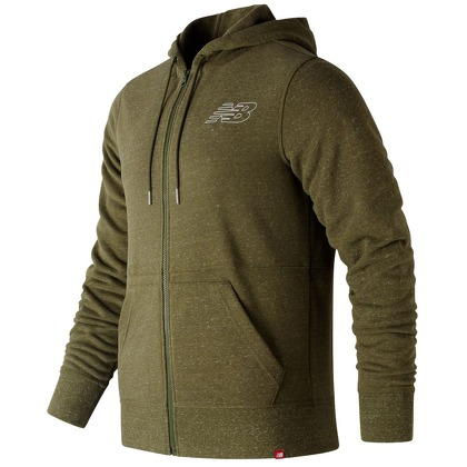 Мужская одежда New Balance Heather Full Zip Hoodie MJ81556-CVH